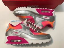 Clothing, Shoes & Accessories Nike Youth Girls Pink White And Teal Leather Size 6y Low-cut Leather Gently-used
