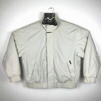 Woolrich John Rich And Bros Mens Full Zip Jacket Coat Light Beige Size XL Nylon
