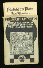 Luce presto sul Reno, Adolf Clarenbach 1929 la sua vita e muoiono Klugkist Hesse