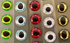 LARGE ADHESIVE 3D EYES. PICK COLOR. FLY TYING, JIG, LURE MAKING CRAFTS. 8mm 10mm