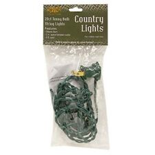Country Farmhouse Teeny Rice White String Lights 20 Green Cord