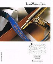 PUBLICITE ADVERTISING 074  1989  LOUIS VUITTON  collection stylos