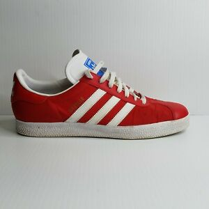 ADIDAS Athletic Shoes GAZELLE V24415 Red Men's Trainers Sz 10.5
