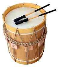 "Landsknechtstrommel / Renaissance Drum, 13,5"" x 19"", Natural"
