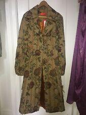 Ingwa melero brocade coat with bishop sleeves, XS - S , beige floral