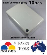 10 x Small Junction Box Terminals Connectors Miniature Cable Join Plastic Case