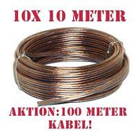 Lautsprecherkabel Subwoofer 10x 10m Audio Autoradio Kabel 2x0,75qmm Heimkino