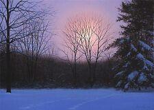 "Alexander Volkov       ""Winter Moonrise""      Giclee on Canvas        AL"