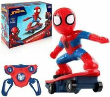 2.4ghz Spiderman Skateboard Scooter Radio Remote Control Car Stunt Music & Light