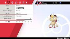 Pokemon MIAOUSS shiny Gigamax 6IV + masterball - Battle Ready - Epée/Bouclier