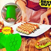 One Press Cevapcici Maker Hot Dog Meat Sausage Machine Kitchen Easy Cook GREEN