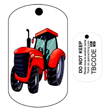 Big Red the Tractor (Travel Bug) For Geocaching - Trackable Tag