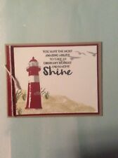 Stampin Up Shine Light House Card With Envelope