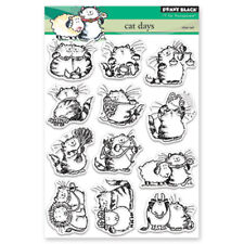 New Penny Black CAT DAYS Clear Stamp Set Kitty Playful Happy Funny Friends Love