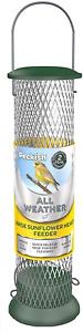 Peckish 60053033 All Weather Sunflower Heart Metal Bird Feeder, Large