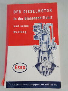 Maintenance Manual From Esso Marine Diesel Motor IN Phq Mint - Inland Waterways