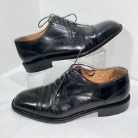 Florsheim Imperial Made In Italy Cap Toe Black Leather Oxford Shoes Mens 11 D
