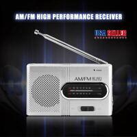 Mini Portable Pocket LCD Digital AM & FM Radio Speaker USB Bluetooth Player