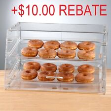 2 Tray Bakery Display Case Front and Rear Doors Donuts Convenience Store Hotel