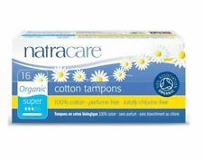 Natracare Coton Bio Tampons avec Application 16-SUPER - 100% Coton sans Parfum