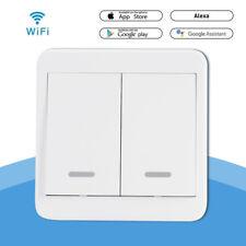 2 Gang WiFi Smart Home Light Button Switch APP Control For Alexa Google LD1600