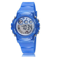 OHSEN Children Boy G Date 12/24 Hours Blue Digital Quartz Shock Wrist Watch Gift