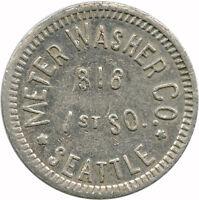 Meter Washer Co. 818 1st So. Seattle, Washington WA Laundry Trade Token