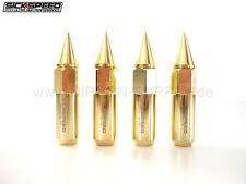 GOLD SICKSPEED Lug Nuts 60/90mm spiked M12x1.5 Radmuttern 4er