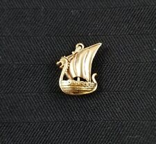 "14k Yellow Gold ""Dragon Boat"" Charm- Gently Used - J-273A"