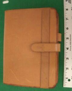HARTMANN Belting Leather Vintage Planner Organizer 3 Ring Binder in Tan Camel
