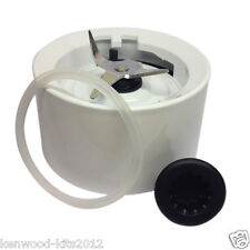 Kitchenaid Blender Jar Base Collar With Blades In White With A Coupler And Seal.