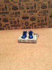 Botas de muñeca Blythe-Hecho a Mano Azul Glitter-Botas para muñeca blythe