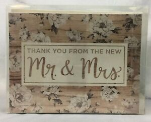 Wedding Thank You Cards Studio His And Her Floral Magnolia Rustic Wood