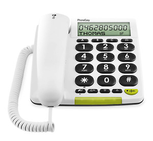 Doro PhoneEasy 312cs Big Button Corded Telephone for Seniors with Display White