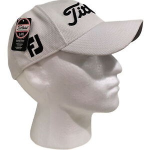 NWT Titleist Tour Elite Hat L XL Fitted Pro V1 FJ FootJoy Golf White Black  NEW