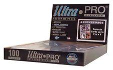 (10) Ultra Pro PLATINUM 4 POCKET 3 1/2 x 5 1/4 Photo Postcard Card Album Pages