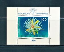 RWANDA 1966 FLOWER FLORA MINI SHEET SCOTT 160a CV $9.00