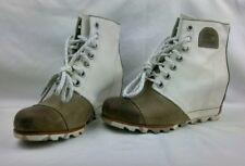 *Sorel Women's 1964 Premium Wedge Boots ~ Tan & White Size8.5*