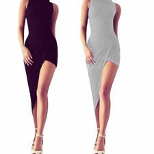 Patternless Cowl Neck Party Dresses for Women