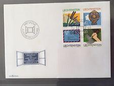 LIECHTENSTEIN FDC 1983 VADUZ 6.6.1983 200 Jahre Luftfahrt Humanitäre Hilfe Ufer