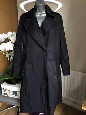 Hobbs Navy Blue Trench Mac Coat Jacket UK Size 10