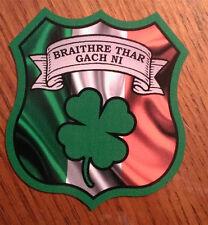 "Irish Police Brotherhood Above All Braithre Thar Gach  Decal Contour Cut 4"""