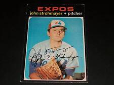 Expos John Strohmayer Auto Signed 1971 Topps #232 JSA C