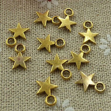Free Ship 800 pieces gold plated star charms 11x8mm #1162