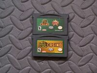 Lot Nintendo Game Boy Advance GBA Games 2 Games In 1: Golden Nugget Casino +