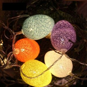 Easter Garland Colorful Easter Egg Light String Led 1.8M Lights Party Decoration