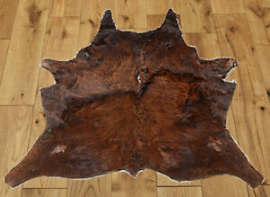 """New Calfhide Rugs Area Cow Skin Leather Cowhide ULG 45831 (29""""X31"""")"""