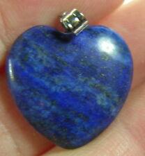 #26 18.00ct Afghanistan 100% Natural Lapis Lazuli Heart Shape Pendant 3.60g 19mm