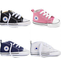 Baby Chuck Taylor Converse Original All Star Trainers Gift Box Shoes 1-12 Months