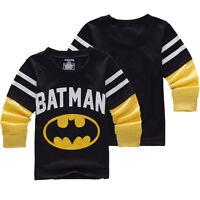 Kids Long Sleeve T-Shirt Tops Sweater Sweatshirt Baby Boys Blouse Tee Pullover